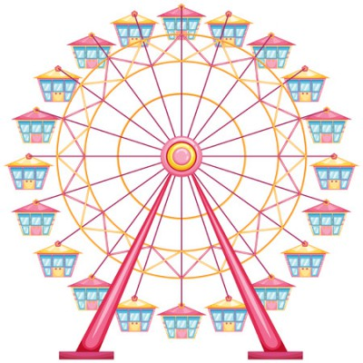 30313259 - lllustration of a ferris wheel ride on a white background