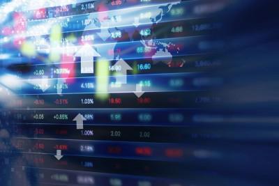 52489173 - stock market background design