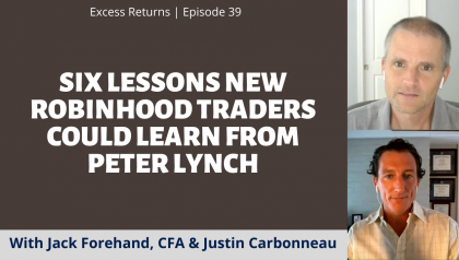 Excess Returns, Ep. 40: Six Lessons New Robinhood Traders Could Learn From Peter Lynch