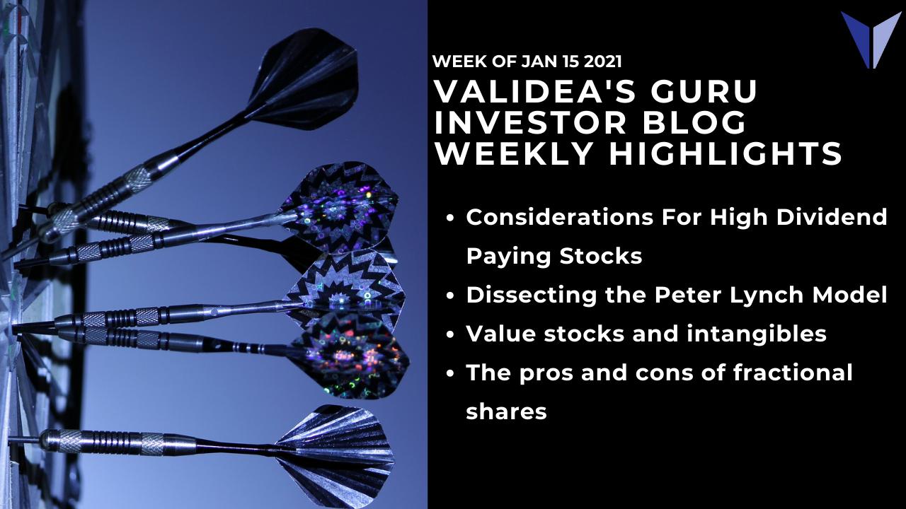 Guru Investor Blog Weekly Highlights: 01/15/2021