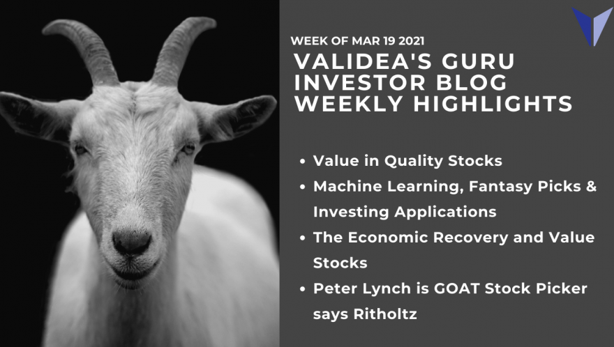 Weekly Highlights: Quality on Sale?, Machine Learning, and Why Peter Lynch May the GOAT Stock Picker