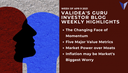 Weekly Highlights: Bubble or Not, 5 Key Value Factors, Moats vs. Market Power & Rates vs. Inflation