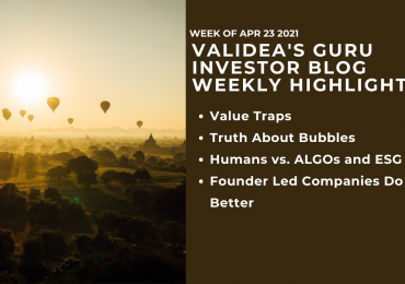 Weekly Highlights: Avoiding Value Traps, Understanding Bubbles and How Algos Beats Humans in ESG