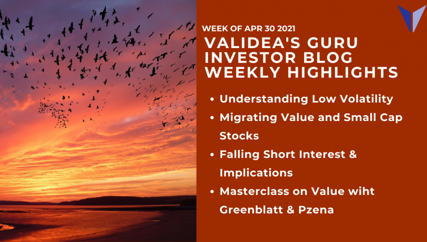 Weekly Highlights: Low Risk Stock Investing, Drivers of the Value Premium & Best of Breed Value Investors Greenblatt/Pzena