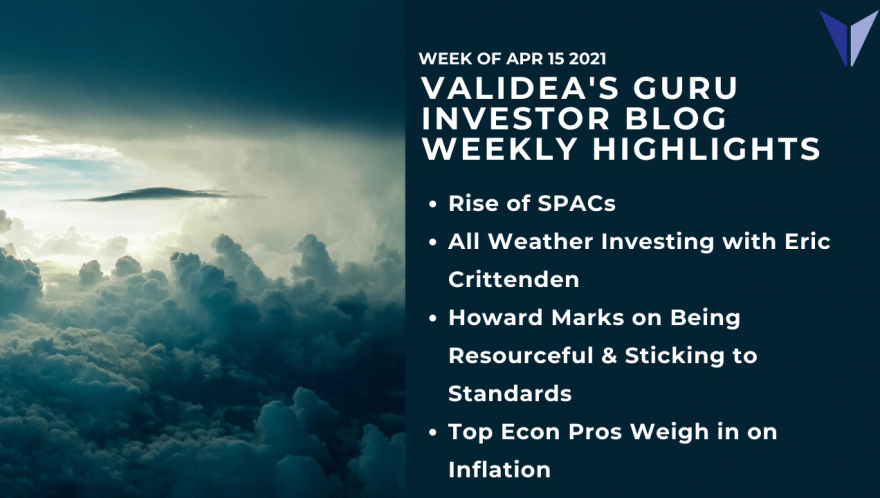 Weekly Highlights: SPACs, All Weather Investing, Howard Marks on the Market, Inflation Expectations