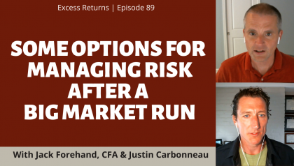Some Options for Managing Risk After a Big Market Run