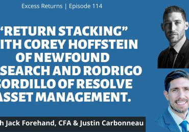 Return Stacking w/ Corey Hoffstein of NewFound Research & Rodrigo Gordillo of ReSolve Asset Management
